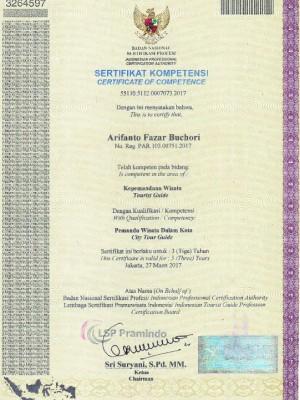 sertifikasi pak arif