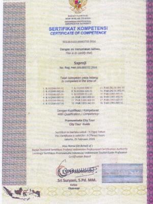sertifikat guide Rozi